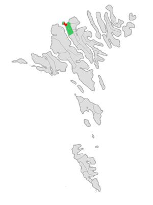 Eiði - Image: Map position eidis kommuna 2005