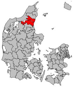 Położenie gminy Aalborg