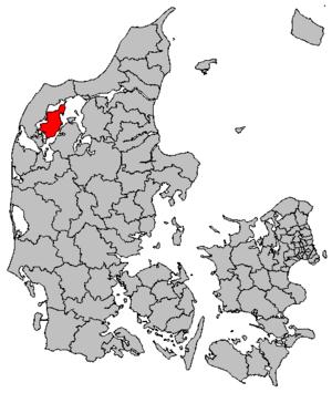 Morsø Municipality - Location in Denmark
