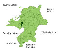 Location of Ōnojō in Fukuoka