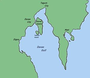 Davao Gulf - Map of Davao Gulf