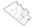 Map of Coopersburg, Lehigh County, Pennsylvania Highlighted.png