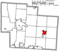 Map of Delaware County Ohio Highlighting Sunbury Village.png