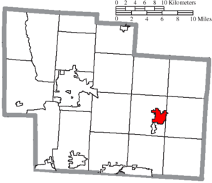 Sunbury, Ohio - Image: Map of Delaware County Ohio Highlighting Sunbury Village