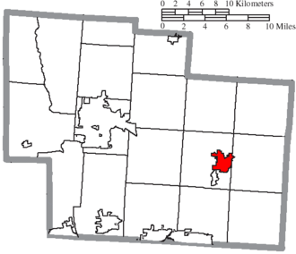 Sunbury, Ohio - Image: Map of Delaware County Ohio Highlighting Sunbury Village