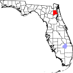 A state map highlighting Clay County in the corner part of the state. It is medium in size.