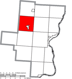 Location of Raccoon Township in Gallia County