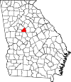 Map of Georgia highlighting Butts County.svg
