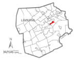 Map of Luzerne County, Pennsylvania Highlighting Wilkes-Barre Township.PNG