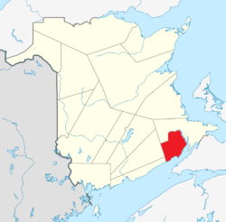 Location of Albert County, New Brunswick