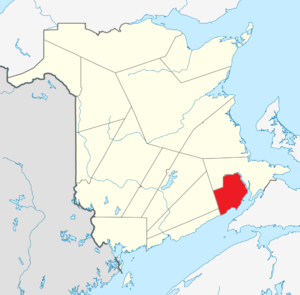 Map of New Brunswick highlighting Albert County.png