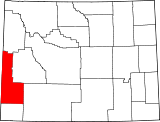 Map of Wyoming highlighting Lincoln County.svg