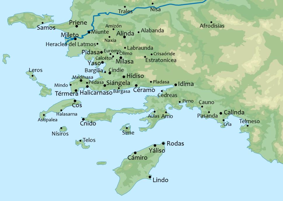 MapaTopográficoDeAsiaMenor-Caria