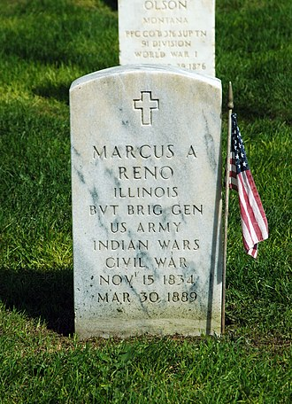 Marcus Reno - Marcus Reno gravestone at Custer National Cemetery
