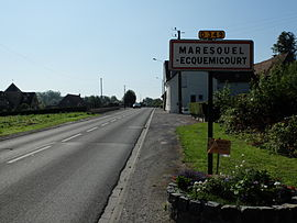 The road into Maresquel-Ecquemicourt