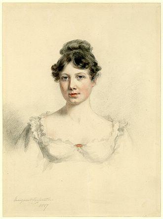 Margaret Sarah Carpenter - Self-portrait of Margaret Carpenter (1817)