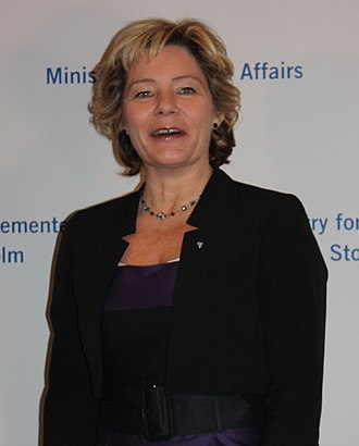Minister for Public Health (Sweden) - Image: Maria Larsson