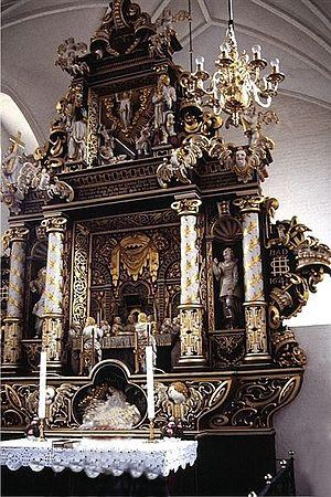 Maribo Cathedral - The Baroque altarpiece (1641)