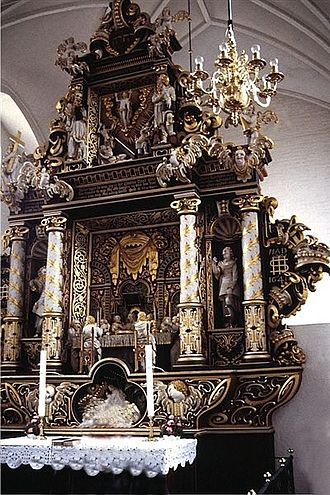 Maribo Cathedral - The Baroque altarpiece (1641)
