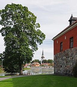 Mariefreds kirke fra Gripsholms slot