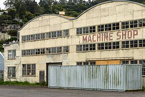 Marinship - Former Marinship Machine Shop in Sausalito. In 1950, the building was converted to a geotechnical testing laboratory. The lab closed in 1997 and the U.S. Department of Veterans Affairs acquired the 27,500-square-foot structure in 2006. It has been dormant since.