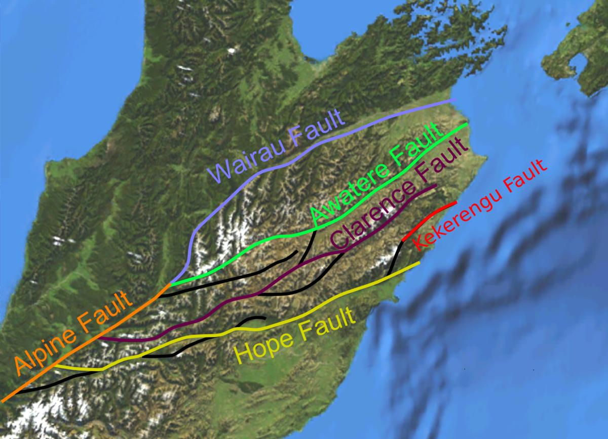 Hope Fault Wikipedia - West coast fault lines