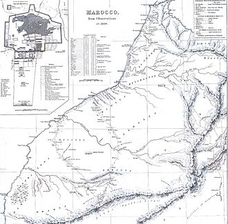 French protectorate in Morocco - Map of Atlantic coast of Morocco (1830)