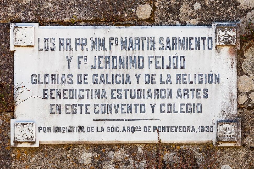 Martín Sarmiento e Jerónimo Feijoo estudaron en Lérez. Galiza