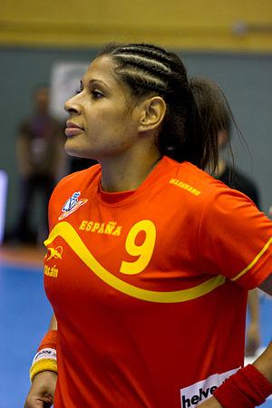 Afro-Spaniard - Image: Marta Mangué Jornada de las Estrellas de Balonmano 2013 01