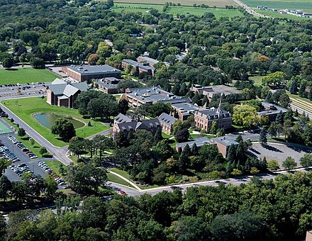 Martin Luther College in New Ulm, Minnesota, United States Martin Luther College Aerial Photo - 2010s.jpg