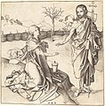 Martin Schongauer, Christ Appearing to Mary Magdalene, c. 1480-1490, NGA 631.jpg
