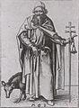 Martin Schongauer - Der heilige Antonius stehend (L 53).jpg