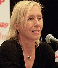 Martina Navratilova in 2011. She won the most tournaments that year in this series.