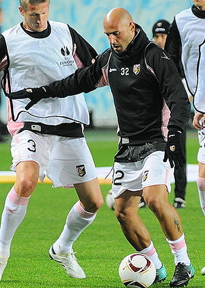 Massimo Maccarone - Maccarone training with Palermo in 2010