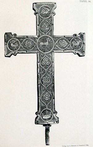 Cross of Mathilde - The reverse of the Cross of Mathilde