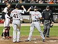Matt Wieters, Victor Martinez, Alex Avila, Jim Joyce.jpg