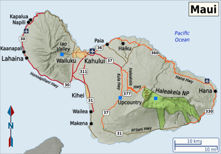photo relating to Printable Map of Maui called Maui Push direct at Wikivoyage
