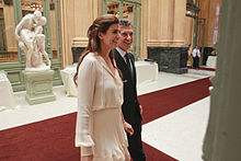 Mauricio and his wife, Juliana Awada, at Teatro Colón in 2011.