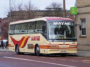 Mayne Coaches - Irizar InterCentury bodied Scania L94IB in Bolton in February 2008