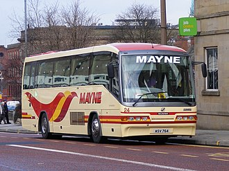 Mayne Coaches - Irizar InterCentury bodied Scania L94IB in Bolton in February 2008