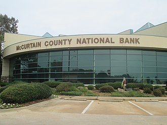 McCurtain County, Oklahoma - McCurtain County National Bank in Broken Bow, Oklahoma