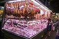 Meat stall at Barcelona market (2930204622).jpg