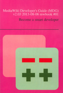 MediaWiki Developer's Guide - photos of a printed book Cover.png