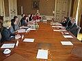 Meeting with Hélène Duchêne and CTBTO Executive Secretary Lassina Zerbo in the Quai d'Orsay, l'hôtel du ministre, Paris, France, on 19 December 2013.jpg