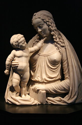 Conrad Meit - The Madonna and Child made for the tomb of Philibert of Chalon at Lons-le-Saunier, now Brussels Cathedral