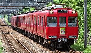 Meitetsu Toyota Line - A Meitetsu 100 series EMU on the Meitetsu Toyota Line