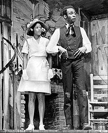 Melba Moore and Cleavon Little in Purlie 1970.JPG