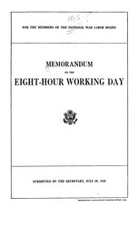 Memorandum on the eight-hour working day