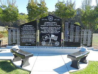 Alameda County Sheriff's Office - Memorial to fallen officers from Alameda County, including Sheriff's Office forces, Lone Tree Cemetery, Fairview
