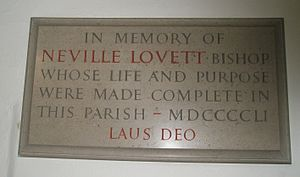 Neville Lovett - Image: Memorial to Bishop Lovett